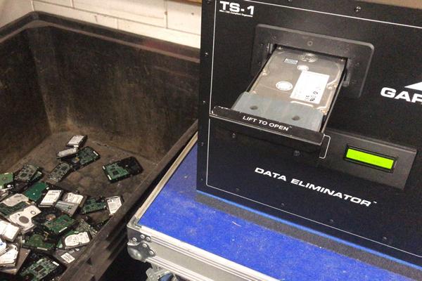Degausser Dta vernietiging HDD harddisk